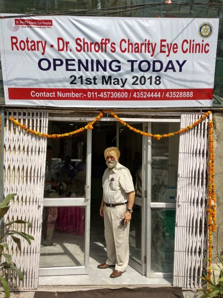 Grand opening of Rotary – Dr. Shroff's Charity Eye Clinic in Karol Bagh, India