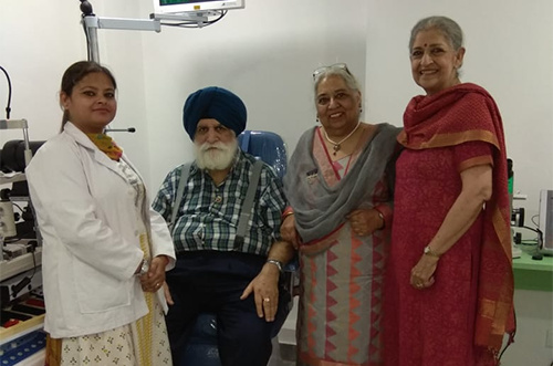 Karol Bagh Rotary – Shroff Eye Clinic's first patient