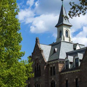spire of campus building